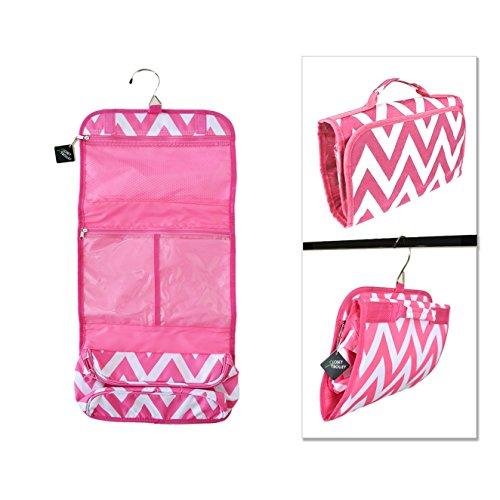 Closet Trolley Hanging Accessory Bag - PINK CHEVRON (Dance Racks Costumes)