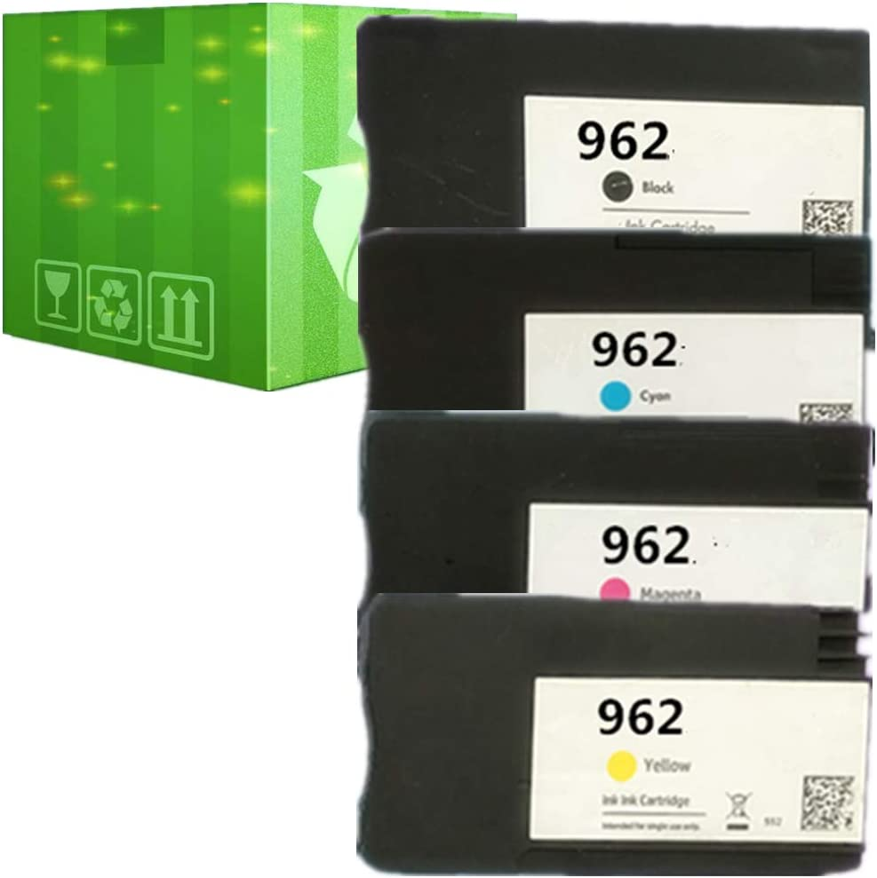 J2INK Remanufactured Ink Cartridge Replacement for HP 962 4 Pack 3HZ99AN 3HZ96AN 3HZ97AN 3HZ98AN Ink Cartridge OfficeJet Pro 9025 9020 9018 9015 9010
