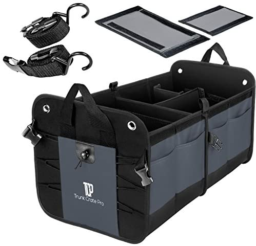 TrunkCratePro Compartments Collapsible Organizer charcoal product image
