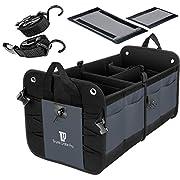 TrunkCratePro Premium Multi Compartments Collapsible Portable Trunk Organizer for auto, SUV, Truck, Minivan (charcoal. gray) New Version
