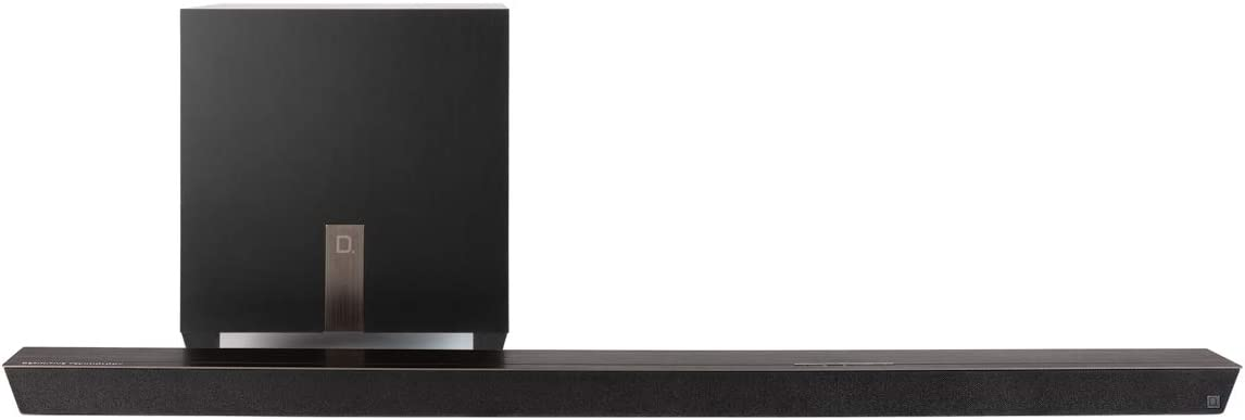 Definitive Technology Studio Slim 3.1 Channel Sound Bar with 7 Speakers and an 8 Wireless Subwoofer – 3.1 Channel 2019 Model Built-in Chromecast, Bluetooth HDMI ARC Dolby Surround and DTS