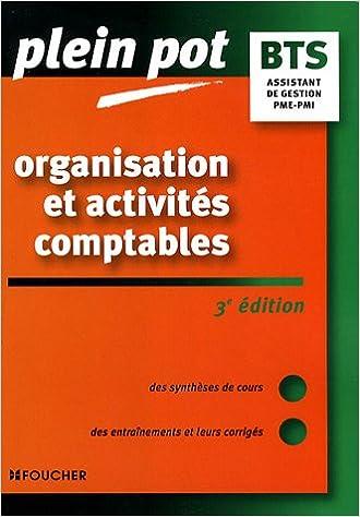 En ligne Organisation et activités comptables BTS Assistant de gestion PME-PMI IUT epub, pdf