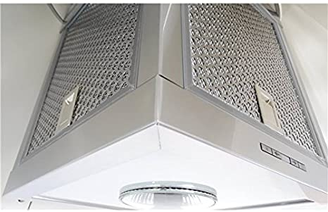 HBH – Campana extractora de cocina Design cónico cristal blanco 60 cm 580 M3/H campana decorative: Amazon.es: Hogar