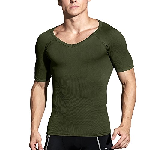 Hoter Mens Slim and Tight Super Soft Compression & Slimming Shaper V-Neck Compression Shirt by HÖTER (Image #2)