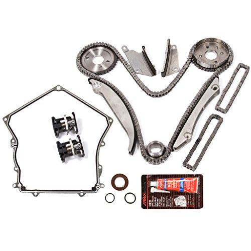 Evergreen TKTCS5028 02-06 Dodge Chrysler V6 2.7L Timing Chain Kit (CNG Cam Gear) Timing Cover Gasket (Cover Timing Gasket Upper)