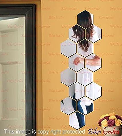Buy Bikri Kendra Premium Acrylic Factory Outlet 3D Mirror Wall Decor ...