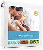 LinenSpa Zippered Encasement Waterproof, Dust Mite Proof, Bed Bug Proof Breathable Mattress Protector, Queen Size