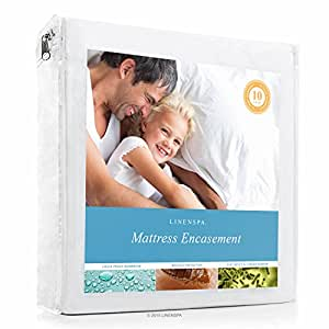 Zippered Encasement Waterproof, Dust Mite Proof, Bed Bug Proof Breathable Mattress Protector - Full