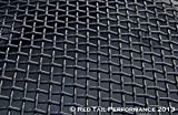 16'' x 48'' Black Powder Coated Stainless Steel Woven Mesh Sheet Diamond Pattern 16 gauge