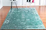 Unique Loom Sofia Collection Turquoise 5 x 8 Area