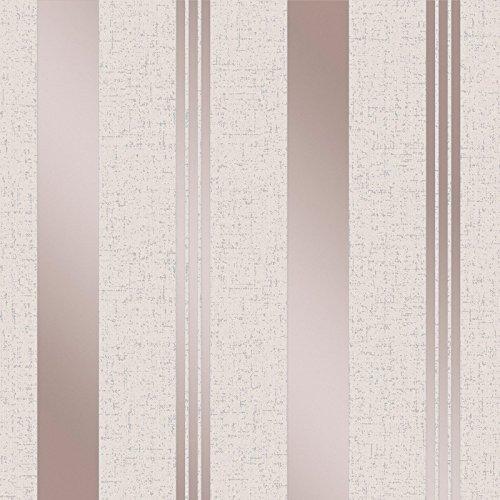 Quartz Stripe Wallpaper Rose Gold Fine Decor FD42205 by Fine Decor (Image #2)