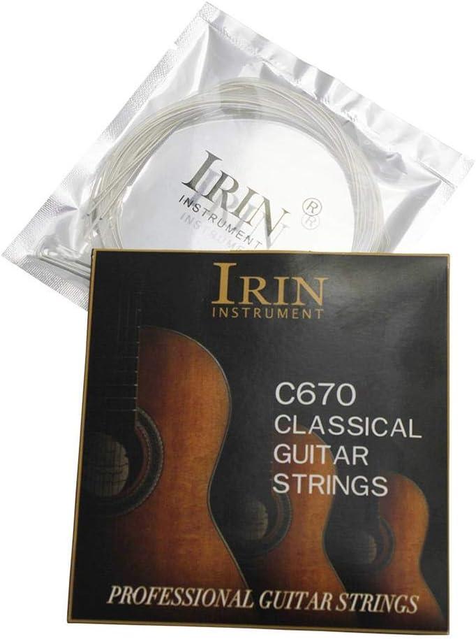 Cuerda clásica de nailon para guitarra de estudiante, cuerda de guitarra, cuerda de titanio, la tensión de la cuerda es moderada