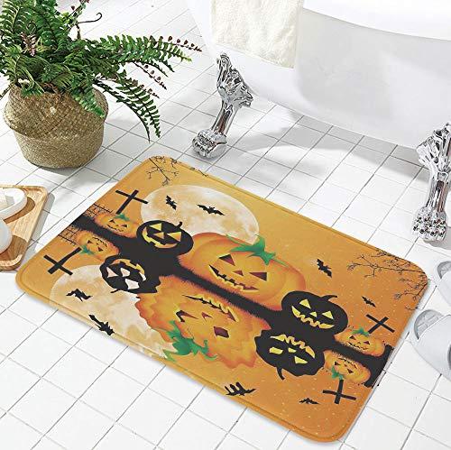 YOLIYANA Water Absorption Non-Slip Mat,Halloween Decorations,for Corridor Study Room Bathroom,19.69