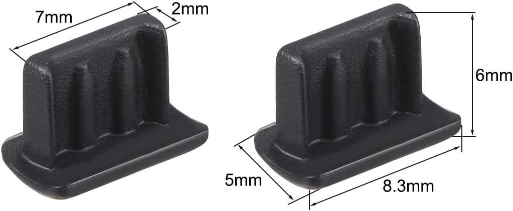 20 St/ück transparent Sourcing Map Staubschutz f/ür USB 2.0 Stecker Kunststoff