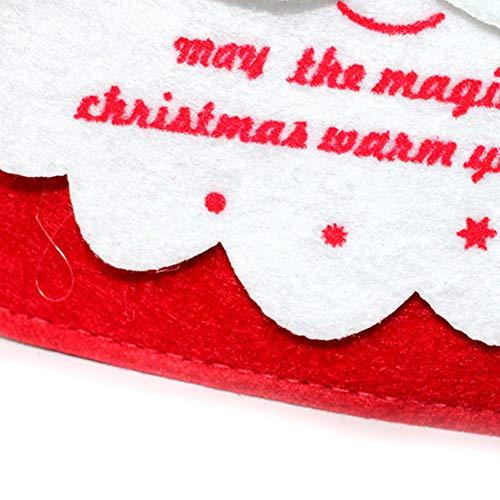 YaptheS Christmas Gift Handbag Xmas Santa Claus Gift Handbag Non-woven Fabric Tote Bag Trick or Treat Candy Bag Mall Gift Bags Ghost Festival Decoration Christmas Gift by YaptheS (Image #1)