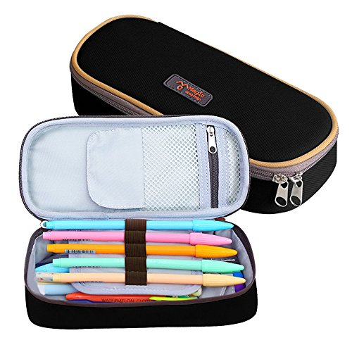 Pencil Case, LOYMR Student Pen Pencil Case Desktop Office Storage Organizer Pen Pencil Holder Organizer Basket Coin Purse Pouch Cosmetic Makeup Bag