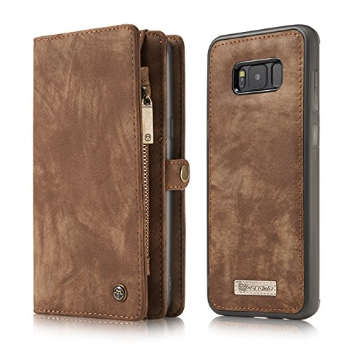 Galaxy Note 9 Case,Miya Premium PU Leather Wallet Case with ID Card Holder Flip Cover Case [Magnetic Closure] Detachable Zipper Pouch Case for Samsung Galaxy Note 9 (2018 Release) - Light Brown by MIYA LTD (Image #1)