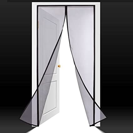 FabricMCC Magnetic Screen Door, Magnets Snap Shut Automatically, Heavy Duty  Instant Mesh Screen Door
