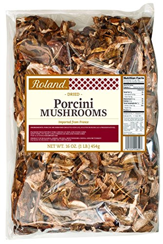 Roland Dried Mushrooms, Porcini, 16 Ounce (Best Substitute For Dried Porcini Mushrooms)