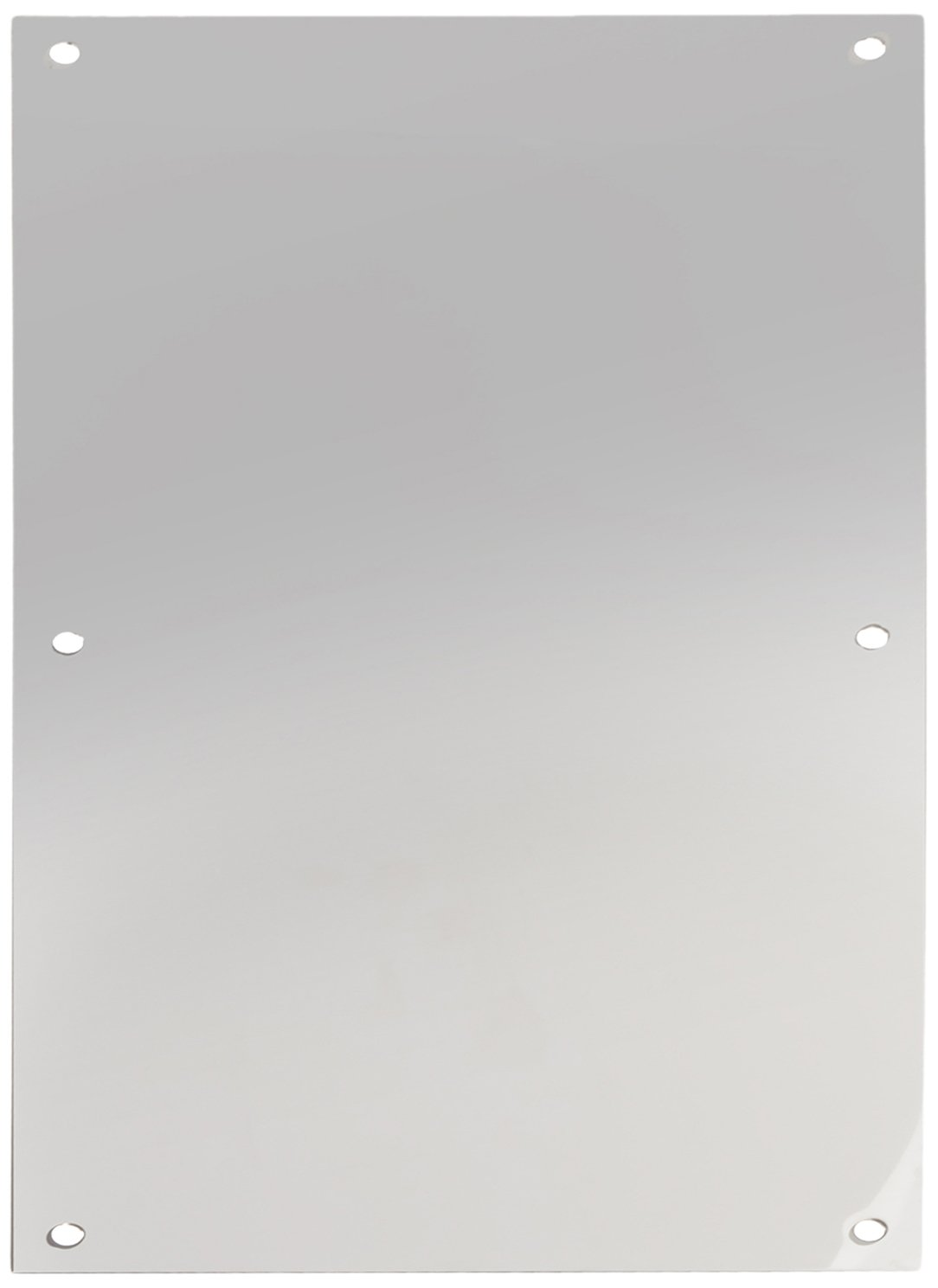 Rockwood 70F.32 Stainless Steel Standard Push Plate, Four Beveled Edges, 16' Height x 8' Width x 0.050' Thick, Polished Finish 16 Height x 8 Width x 0.050 Thick Rockwood Manufacturing Company