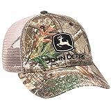 John Deere Men's Washed Edge Camo with Mesh Hat/Cap