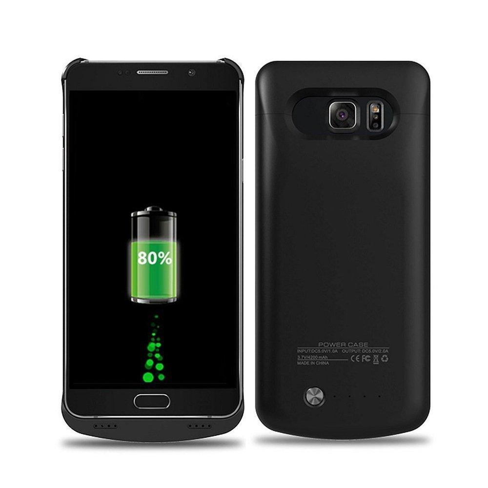 Galaxy S6 EDGE PLUS funda – topyart externa recargable funda cargador para Samsung Galaxy S6 EDGE PLUS – [4200 mAh] S6 Edge Plus Ultra Slim batería ...