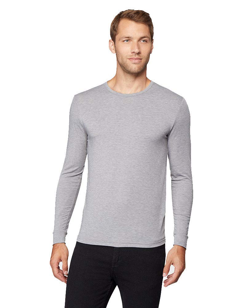 Mens Lightweight Baselayer Crew Top, Shade Grey Heather, Size Medium by 32 DEGREES