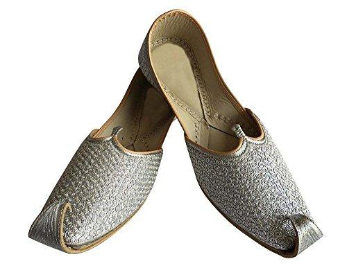 Step N Style Hombres Traditional Indian Khussa Sherwani Zapatos De Cuero Khussa Mojari Juti