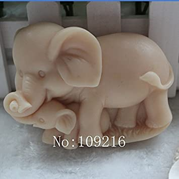 Creativemoldstore 1 pieza Parent-Child elefante (zx1615) Craft arte silicona jabón molde Craft moldes DIY hecho a mano jabón molde: Amazon.es: Juguetes y ...