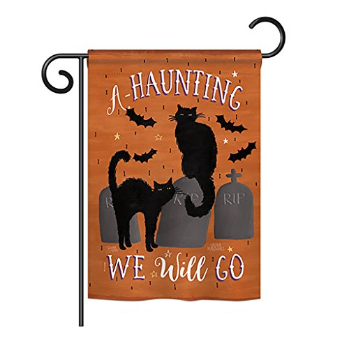 Breeze Decor G162081 Haunting We Go Fall Halloween Impressions Decorative Vertical Garden Flag 13