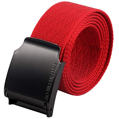 - moonsix Nylon Web Belts for Men,Solid Color Military Style 1.5