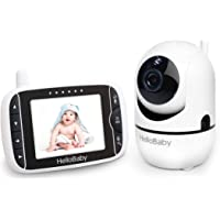 Baby Monitor, HelloBaby Video Baby Monitor with Camera Remote Pan-Tilt-Zoom, 3.2'' Screen, Infrared Night Vision, Two…