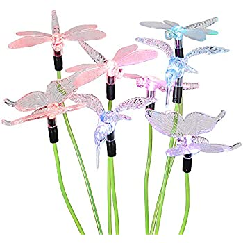 hallomall solar powered color changing outdoor stake lights solar decorative landscape lighting lawn yard light