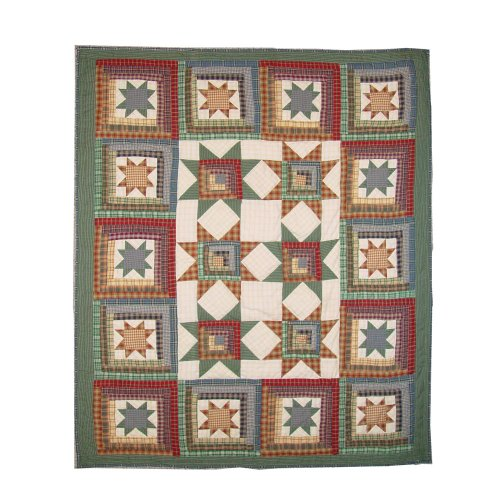 - Patch Magic 50-Inch by 60-Inch Cottage Star Throw
