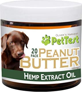 Olivers Harvest PetTest Peanut Butter 5mg Treats 20 Count- Pain, Anxiety, Inflammation,