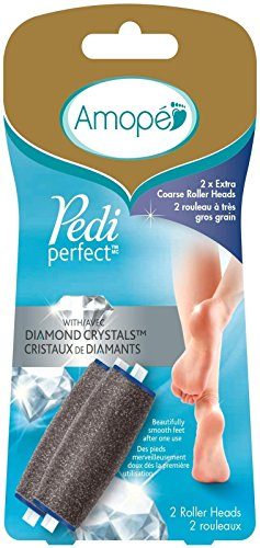 Amope Pedi Perfect Electronic Foot File Refills, Extra Coarse (Pack of 2)