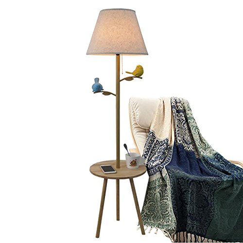 Floor Lamp American Country Bird Living Room Sofa Coffee Tab