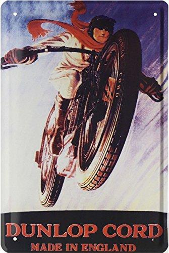 Dunlop Neumáticos Reklame Réplica Moto Bike Cartel de chapa ...