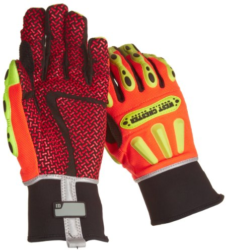 (West Chester 86712 Synthetic Leather R2 Safety Rigger Glove, Long Neoprene Band Top Cuff, 10-13 64