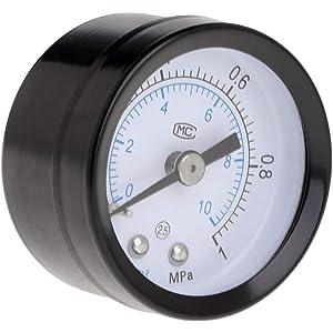 ECMQS calibrador de presión de CO2 Acuario Balance Graduado (de Calibre con Aire de dióxido