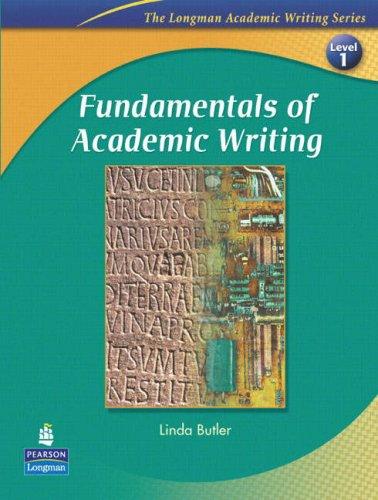 FUNDAMENTALS OF ACADEMIC WRITING(1E) : STUDENT BOOK (ACADEMIC WRITING SEREIS)