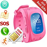 Hangang Children Smart Watch Kids GPS Tracker Anti-Lost Wrist Watch SOS Call Location