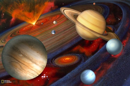 091212471351 - Brewster National Geographic Kids NG94613 Planets Wall Mural, 72-Inch x 48-Inch carousel main 0