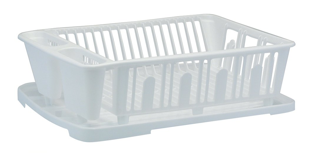Amazon.com United Solutions SK0012 Two Piece Dish Rack and Drain Board Set in White-2 Piece Large Sink Set Includes Dish Drainer and Drain board with Room ...  sc 1 st  Amazon.com & Amazon.com: United Solutions SK0012 Two Piece Dish Rack and Drain ...