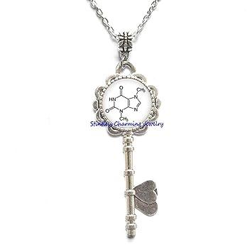 Amazon.com: Collar con llave de joyería química – Collar con ...