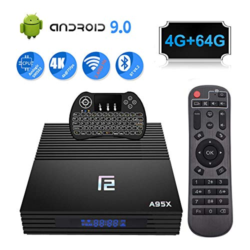 Android 9.0 TV Box 4GB 64GB F2 Smart Android TV Box Amlogic S905 X2 CPU Support HDMI 2.1/H265 VP9/Dual WiFi 2.4G 5.0G…