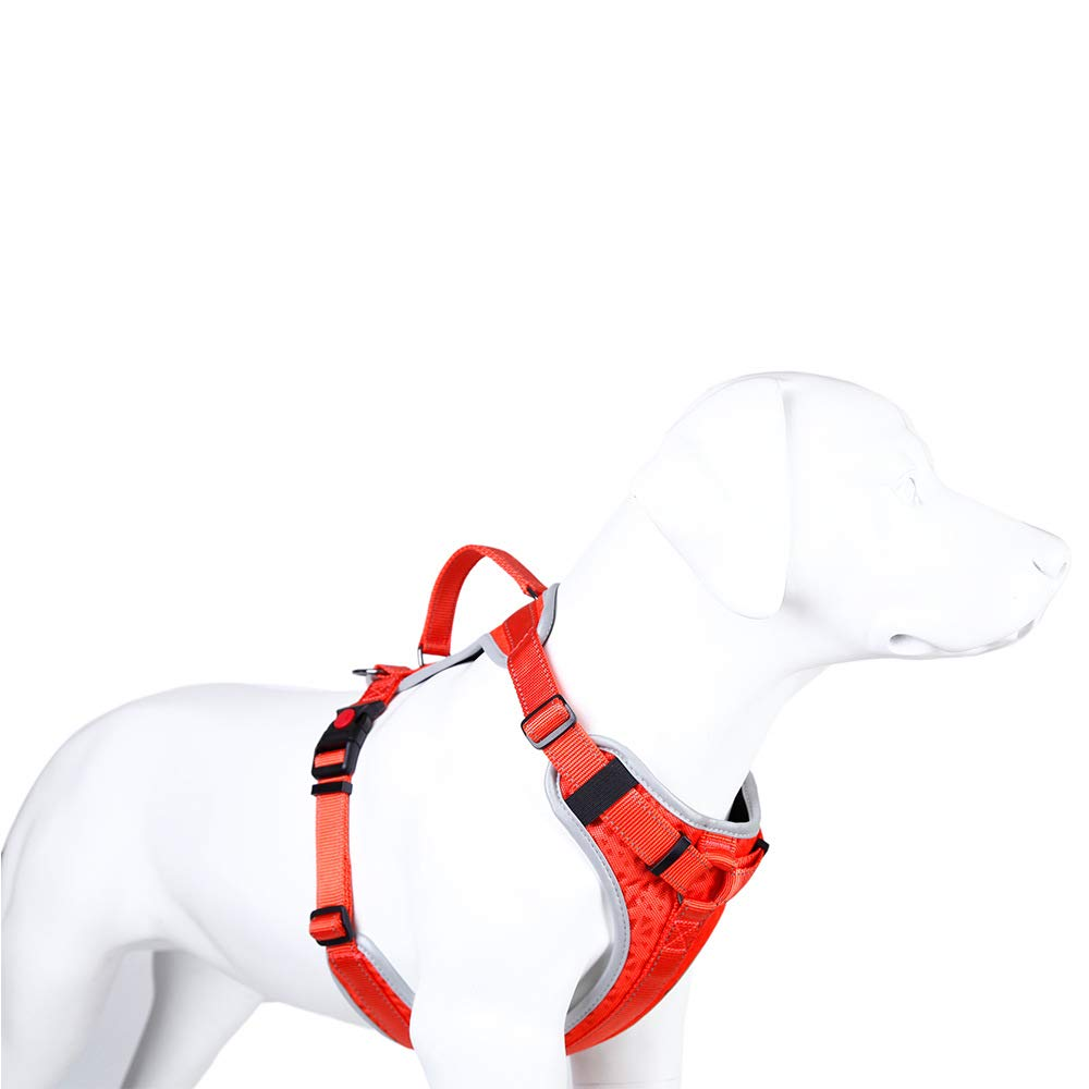 Red XL Red XL Dog Chest Strap Practical Dog Vest Traction Small and Medium Sized Dogs wear Resistant and Breathable with D-Ring Buckle