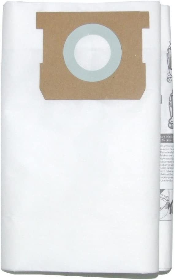 Vacmaster 4 to 5 Gallon Dust Filter Bag, Fits VQ407S & VWM510, 3-Pack, VDBP
