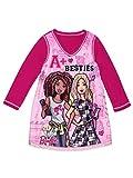 Barbie Girls Long Sleeve Reversible Fleece Nightgown