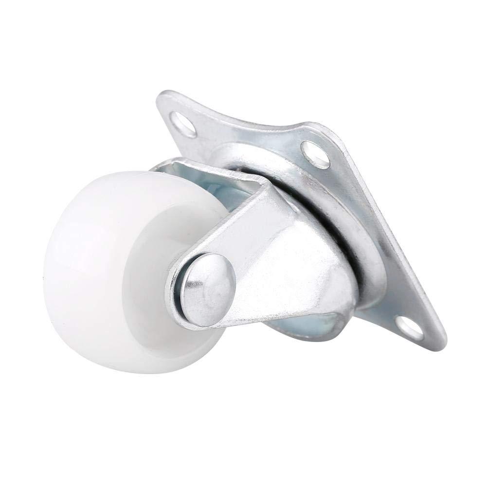 4 piezas Ruedas giratorias universales de 1Ruedas Rueda de rodillo blanco para muebles Silla con superficie de zinc para resistencia al /óxido. Ruedas giratorias